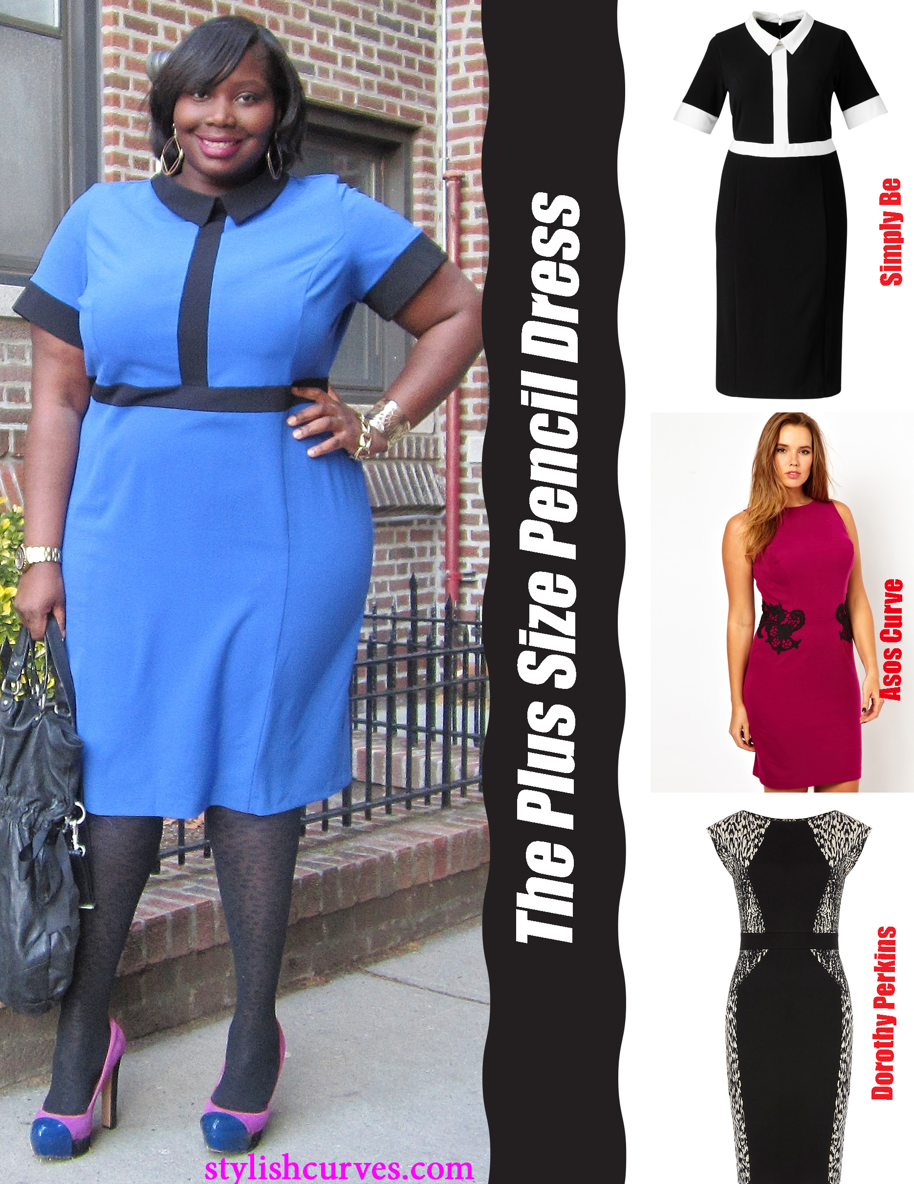 WORK-WEAR WEDNESDAY: THE PLUS SIZE PENCIL DRESS | Stylish Curves