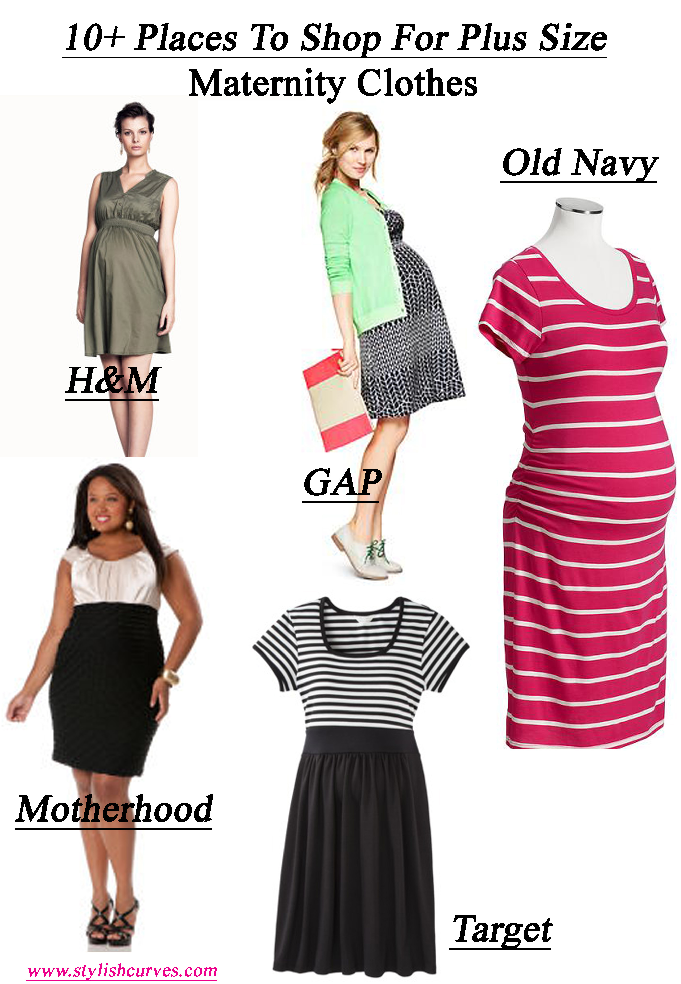 10+ PLACES TO SHOP FOR STYLISH PLUS SIZE MATERNITY CLOTHES | Stylish ...