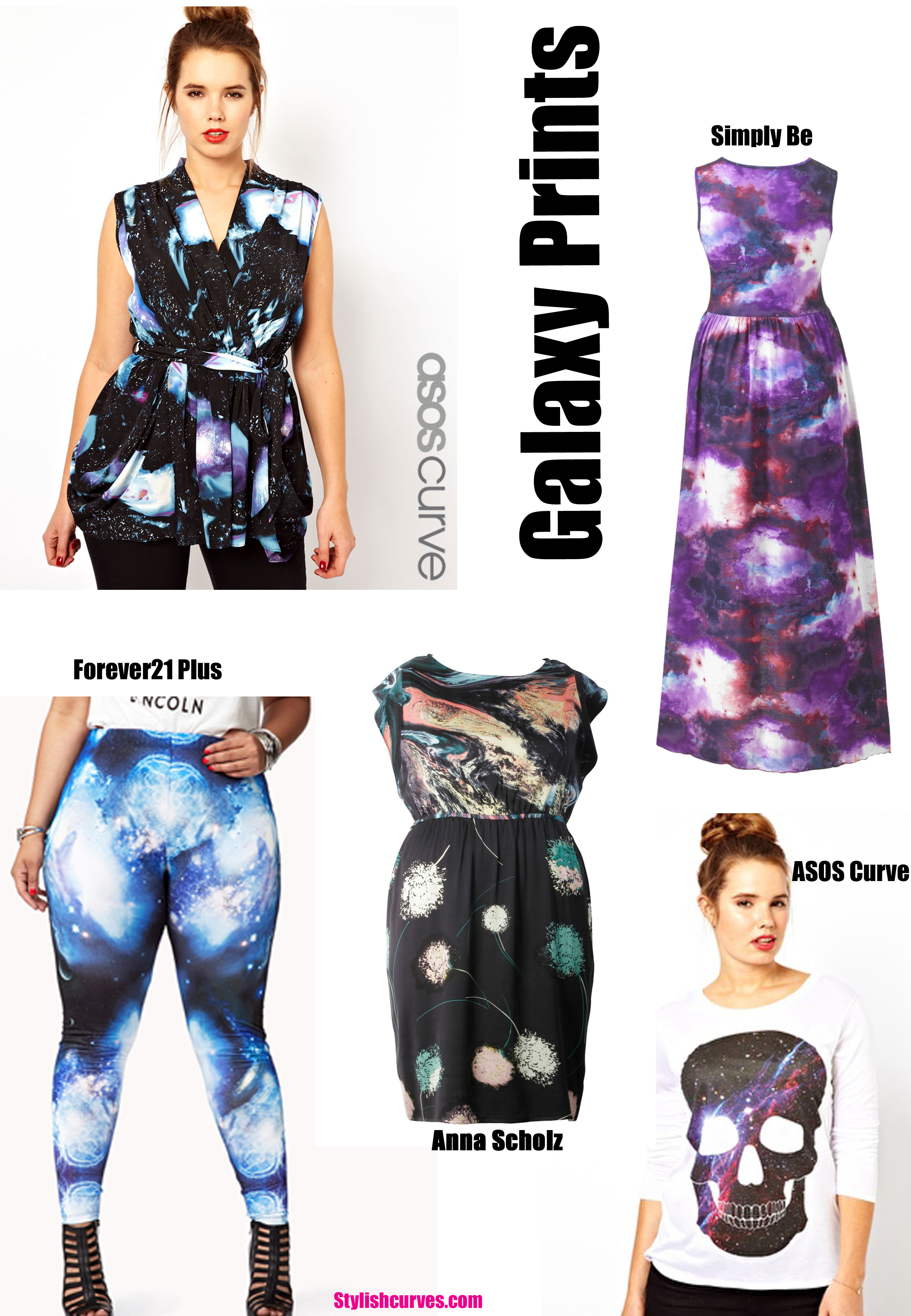 PLUS SIZE TREND TO TRY: GALAXY PRINTS   Stylish Curves