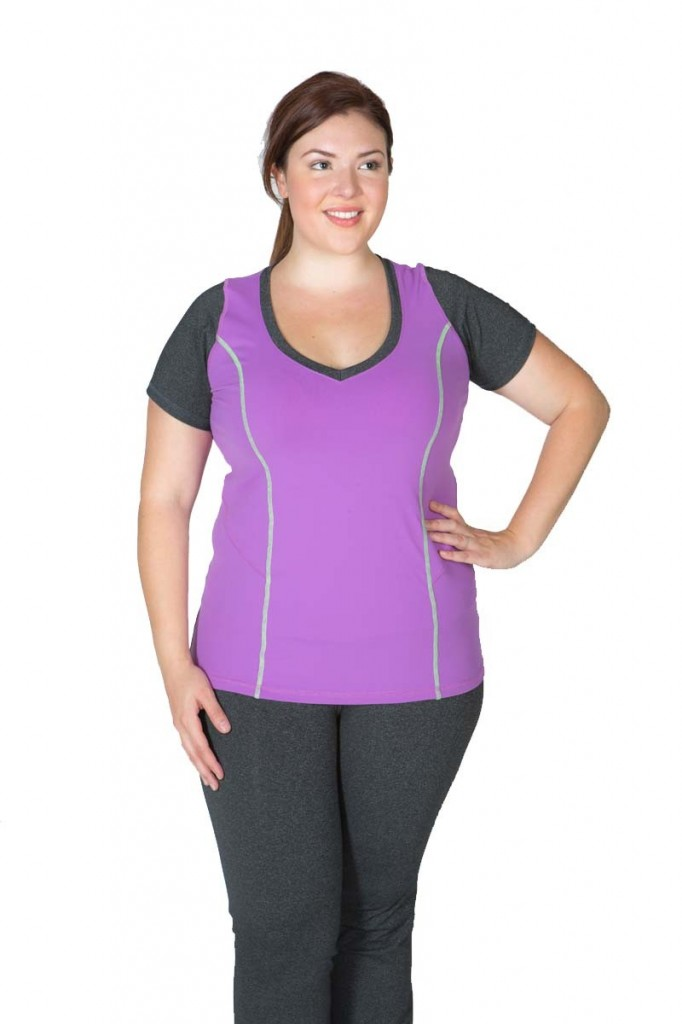 lola getts active plus size workout gear | stylish curves