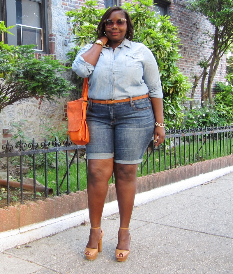 Type Of Clothes To Wear In Bermuda: STYLE JOURNEY: JCPENNEY DENIM PLUS SIZE BERMUDA SHORTS
