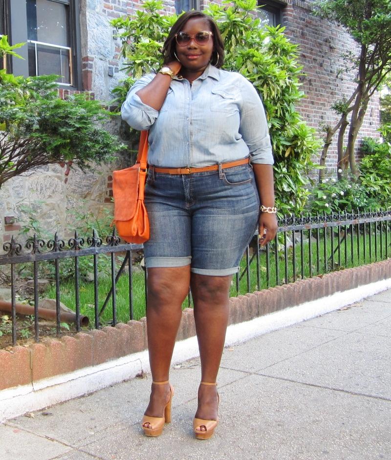 style journey jcpenney denim plus size bermuda shorts