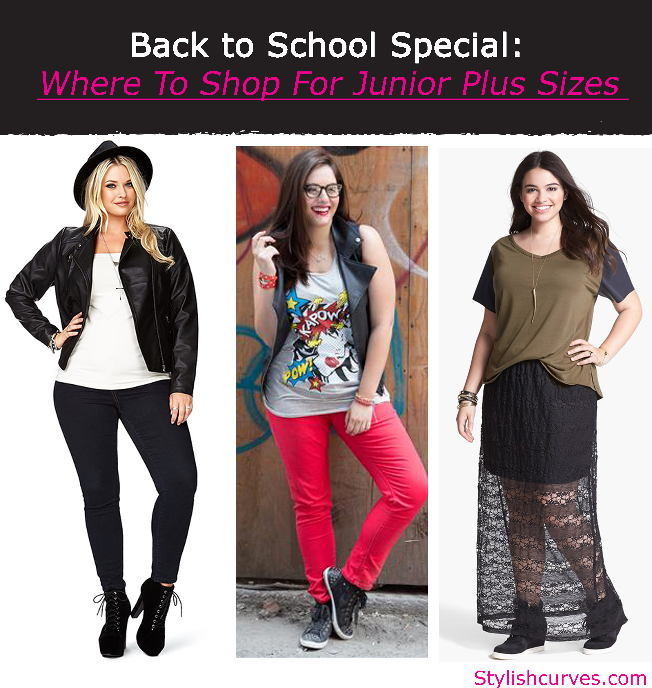 BACK TO SCHOOL SPECIAL: WHERE TO SHOP FOR JUNIOR PLUS SIZE CLOTHES ...