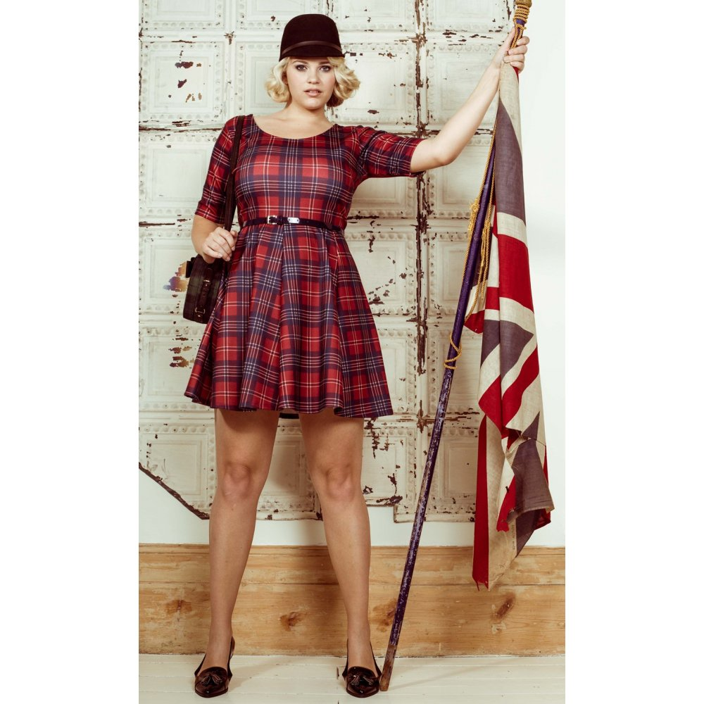 Plus Size Tartan Dress