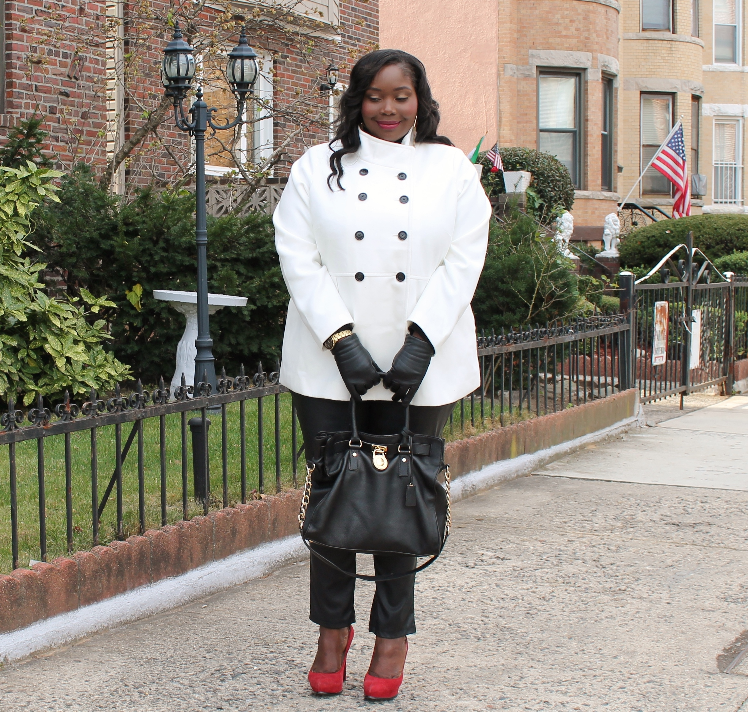 WINTER WHITE IN OLD NAVY PLUS SIZE COAT | Stylish Curves