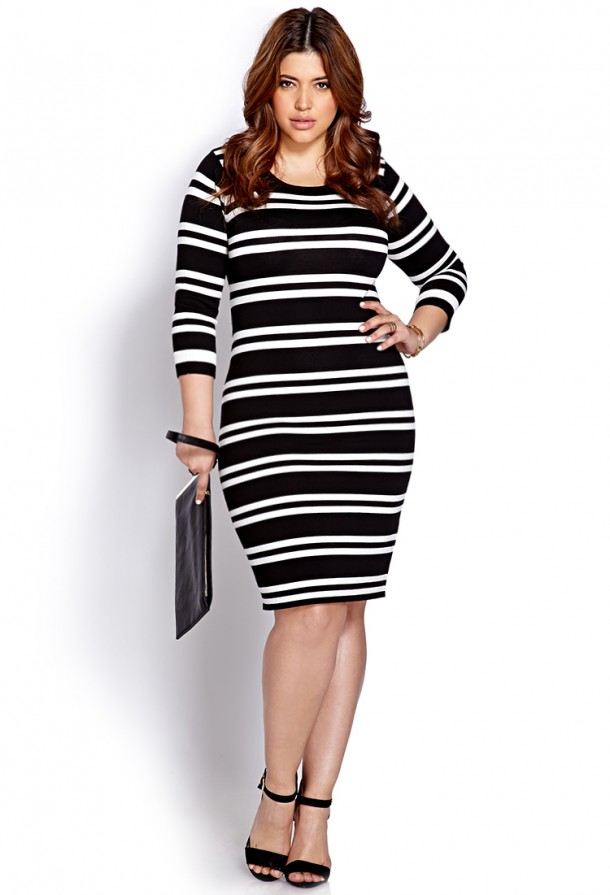 STYLISH CURVES PICK OF THE DAY: FOREVER 21 FESTIVE STRIPED ...