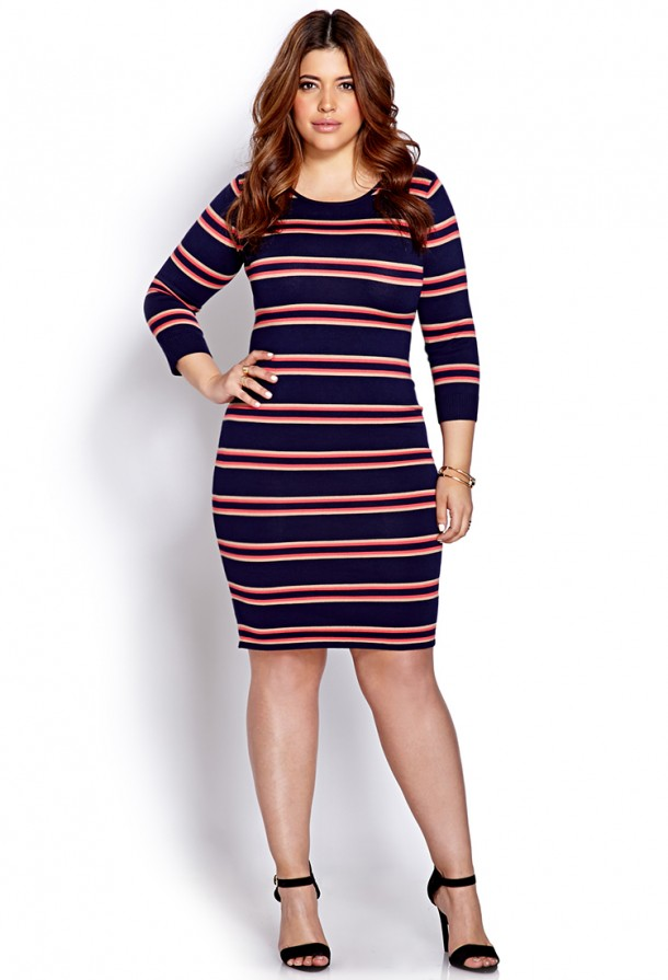 81a6d9b210f STYLISH CURVES PICK OF THE DAY  FOREVER 21 FESTIVE STRIPED PLUS SIZE ...