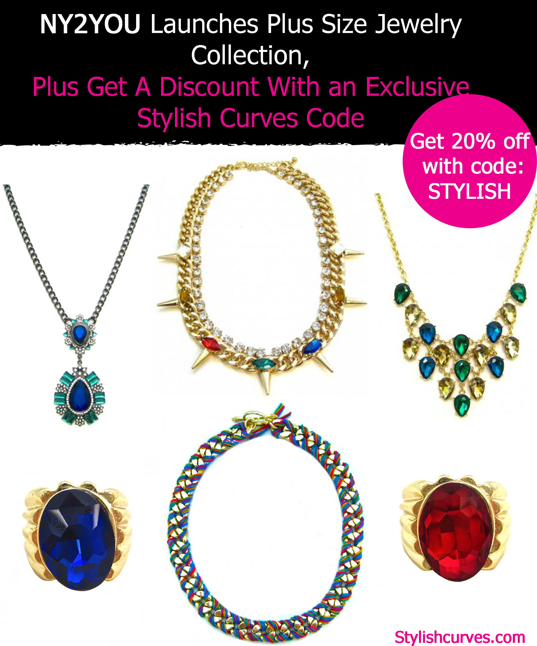 COOL JEWELS: NY2YOU LAUNCHES PLUS SIZE JEWELRY COLLECTION ...