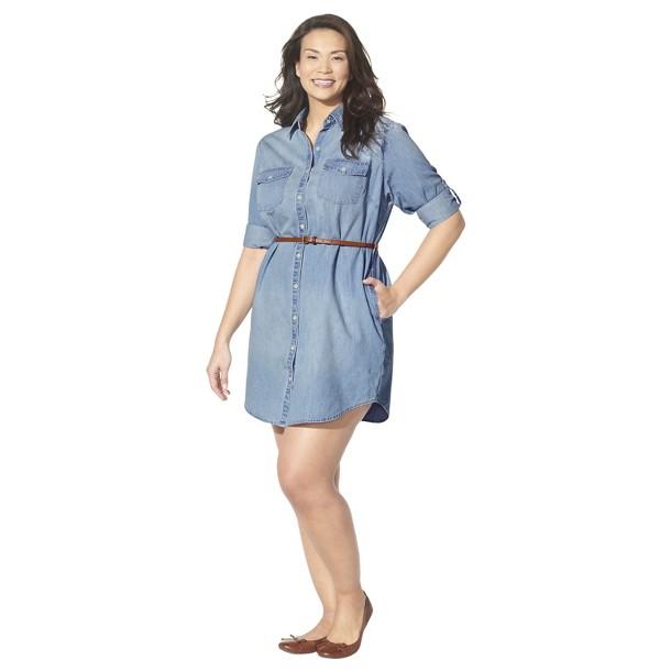 Workwear Wednesday Take On Casual Friday With Plus Size Denim Shirt