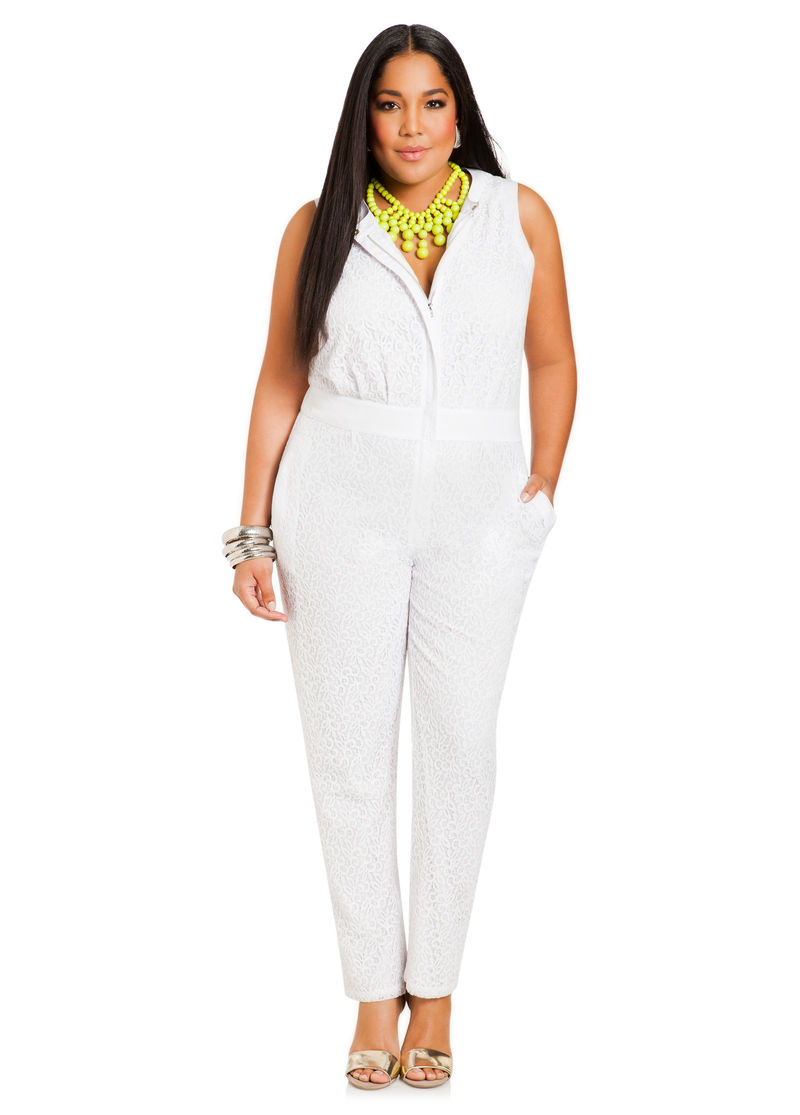Plus Size White Jumpsuits And Rompers | Www.pixshark.com - Images Galleries With A Bite!