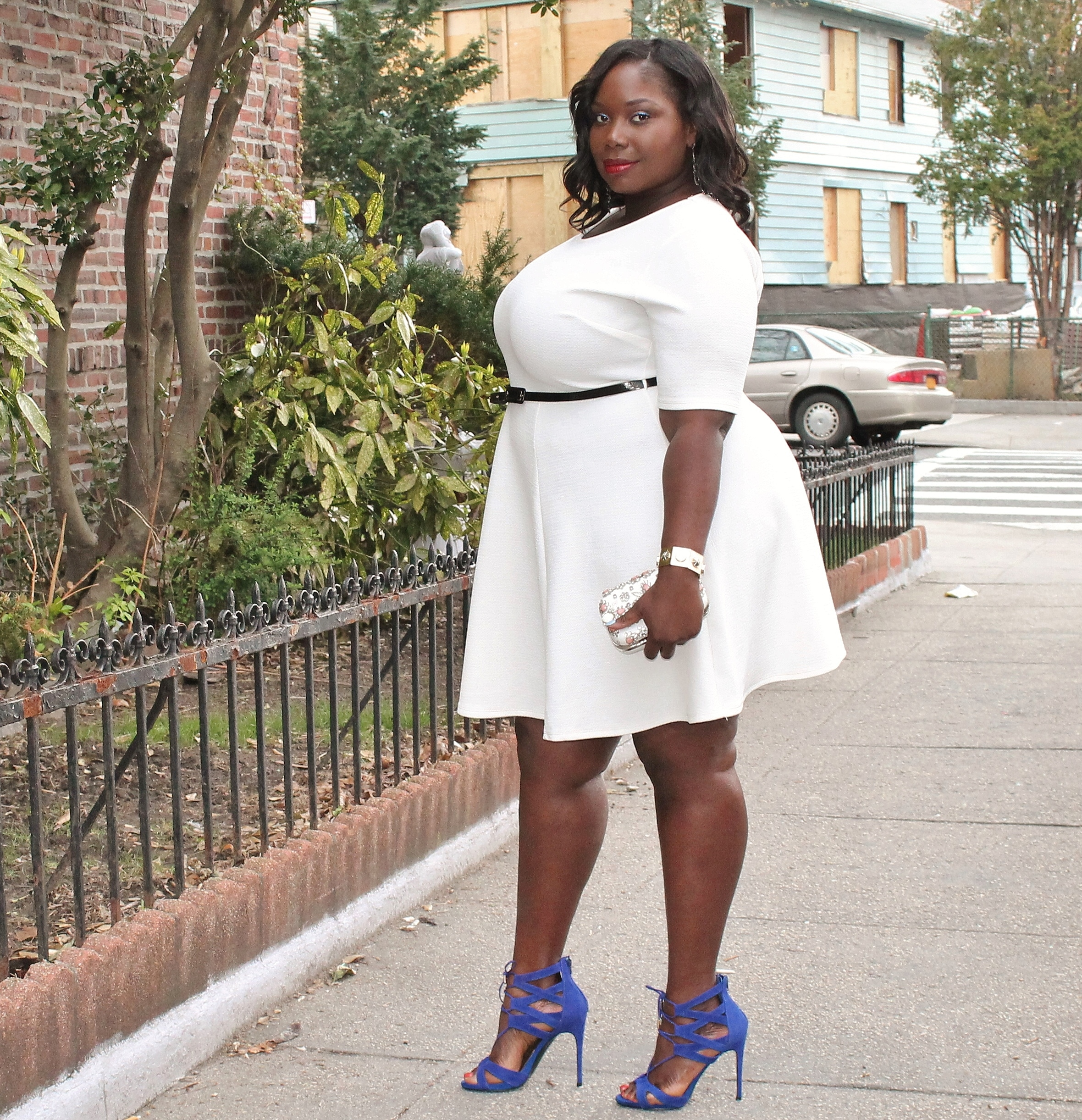 plus size white skater dress | Dress Ideas