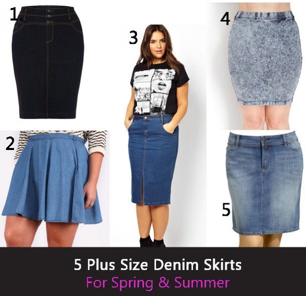 Denim Plus Size Skirt 88