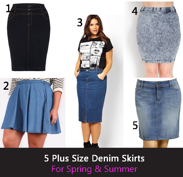 5 DENIM PLUS SIZE SKIRTS FOR SPRING AND SUMMER | Stylish Curves