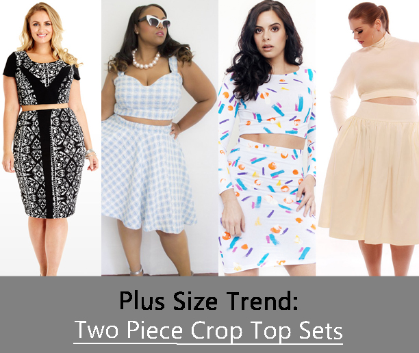 Plus Size Trend To Try The Two Piece Crop Top Set Stylish Curves