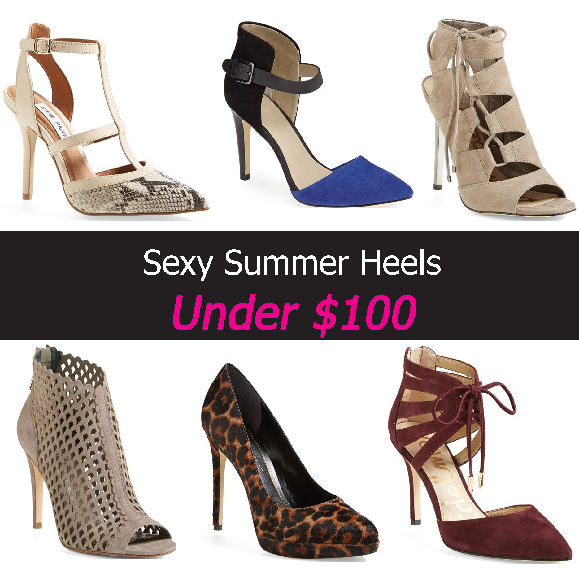 SEXY SUMMER HEELS UNDER $100 (Up To Size 12) | Stylish Curves