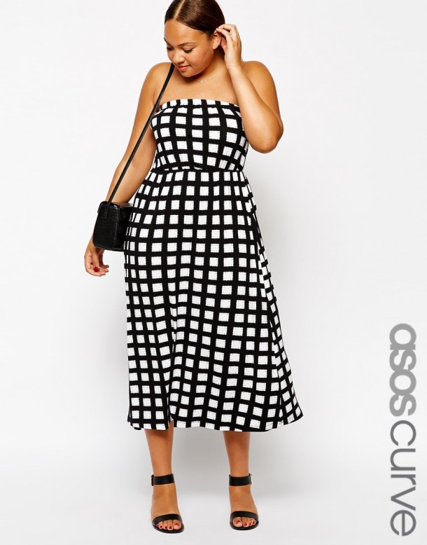 Stylish Curves Pick Of The Day Asos Curve Check Print Bandeau Plus