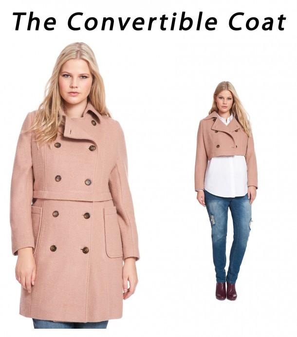 eloquii camel convertible coat