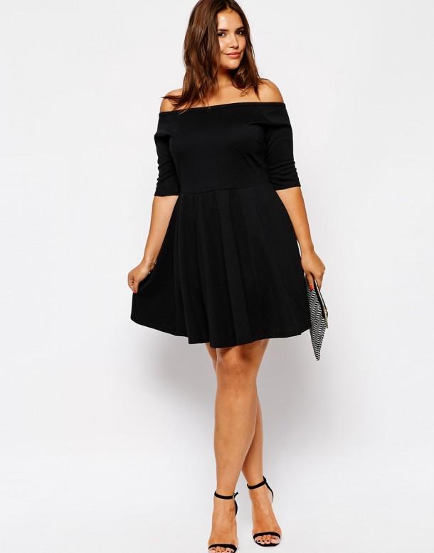 Off the shoulder dresses for plus size women