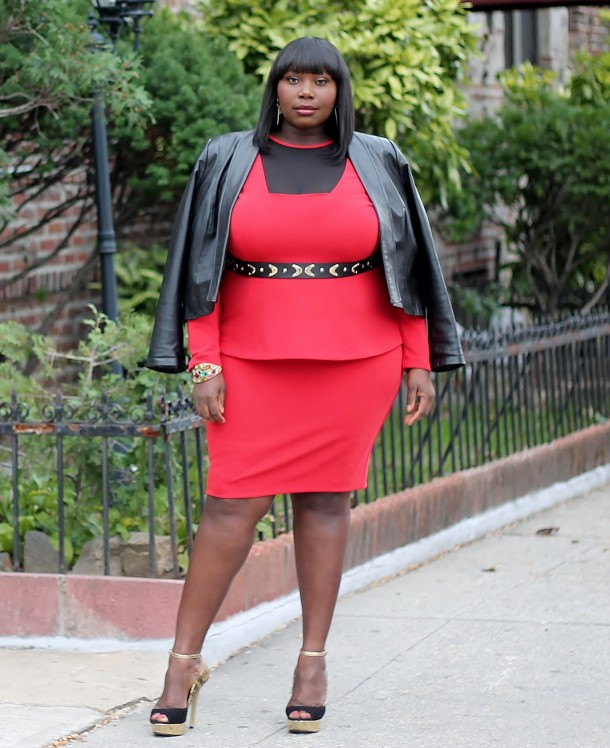 01ca61ed9a1 Making A Statement In Monif C. Faith Plus Size Dress