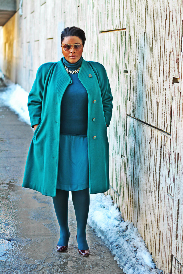 Plus Size Sweater Coat