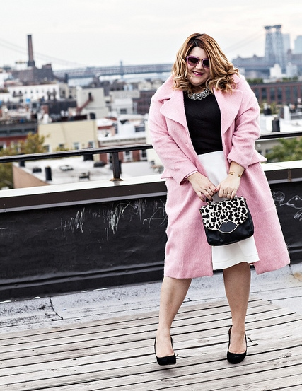 How To Wear A Bright Colored Coat For Fall & Winter (Plus Size ...