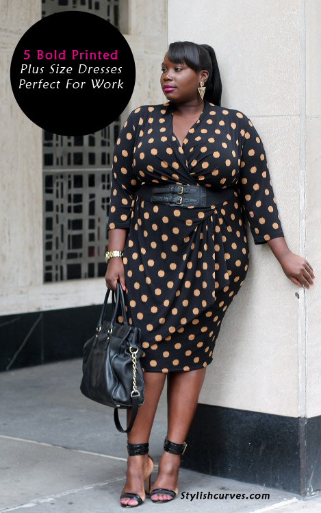 9e8684be61a Workwear Wednesday  5 Bold Printed Plus Size Dresses Perfect For The Office