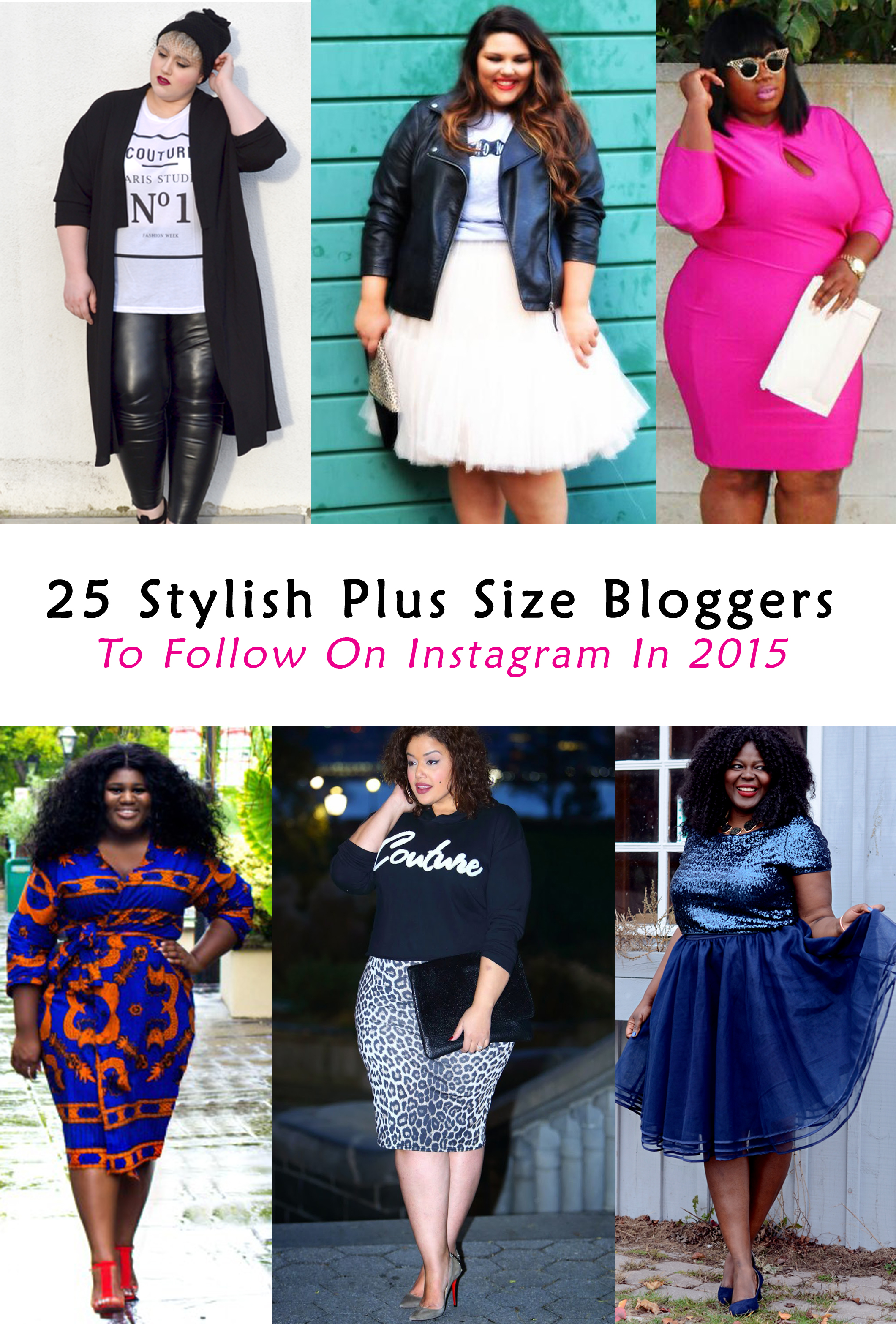 25 Plus Size Bloggers To Follow On Instagram In 2015 Stylish Curves