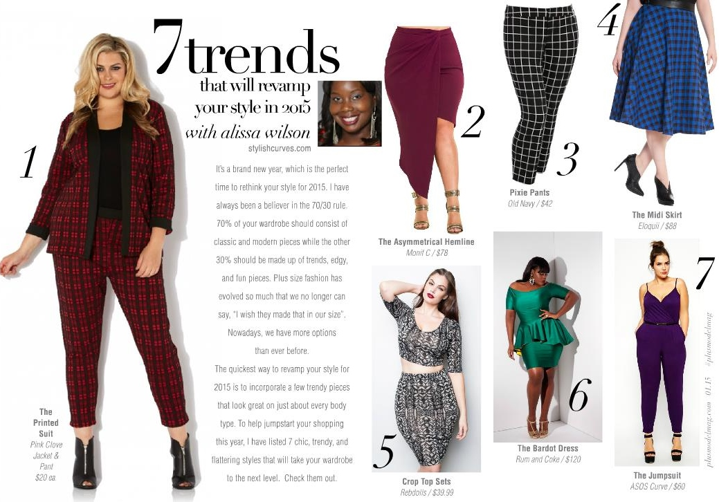 Plus Size Fashion Trends 2015 for Plus Model Magazine
