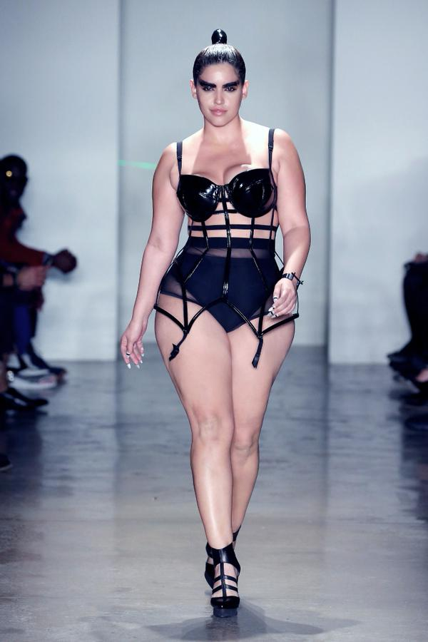You Can Now Buy Plus Model Denise Bidot's Caged Bustier From The Chromat Runway Show