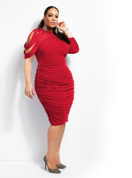 10 Red And Black Valentine\'s Day Plus Size Dresses That Will Make ...