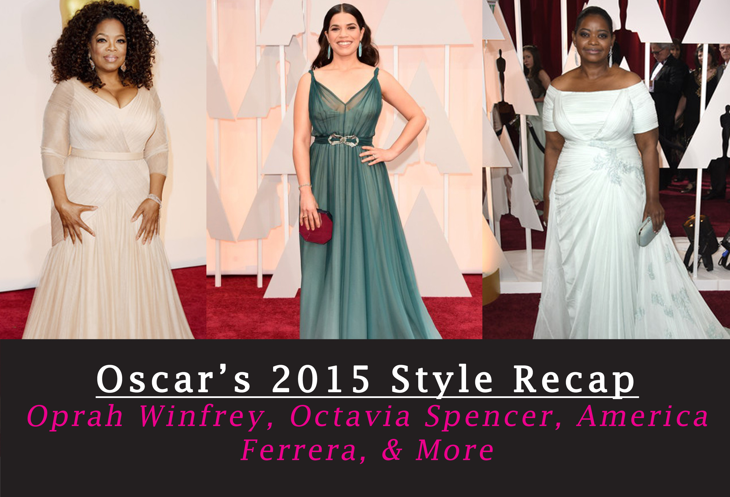Oprah Winfrey, Jennifer Hudson, Jennifer Lopez, And Octavia Spencer At The 2015 Academy Awards