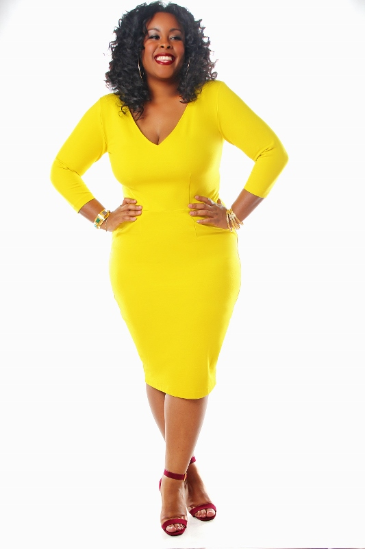 Black and yellow dresses plus sizes