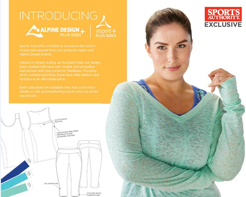 Sports Authority Just Launched A New Workout Line For Plus Size Women