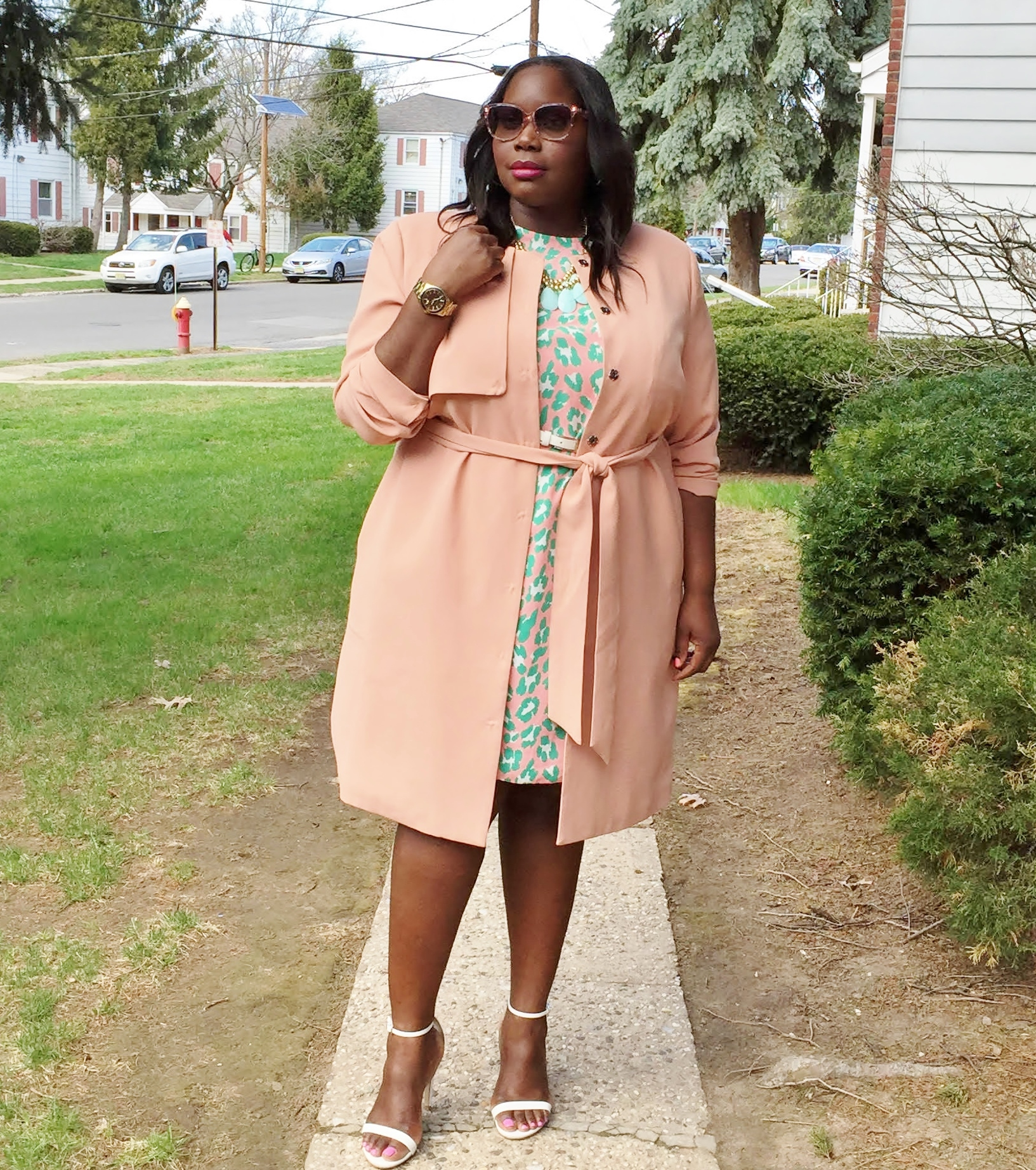 My Perfect Spring Plus Size Trench Coat | Stylish Curves