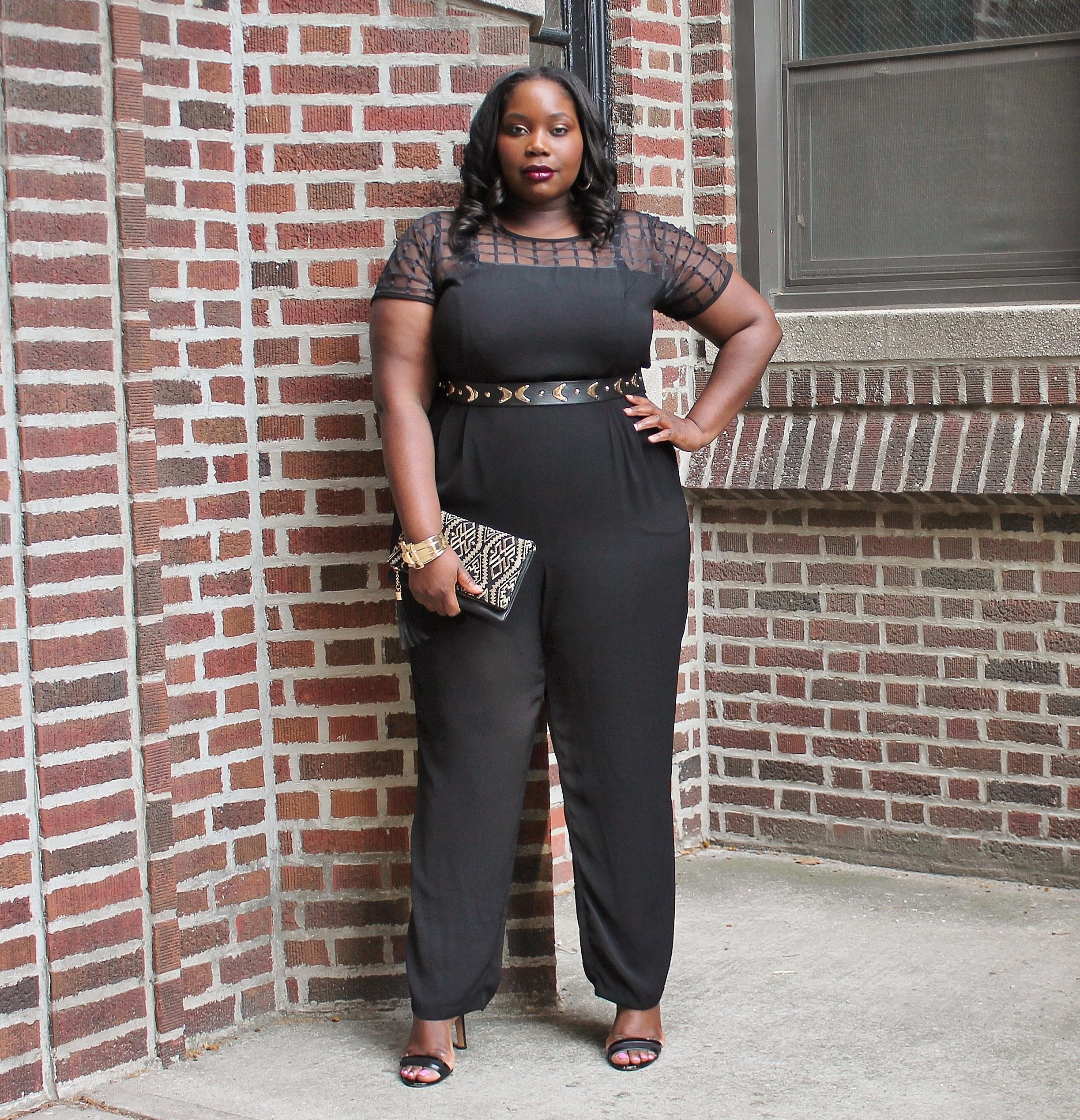My Favorite Chic Black Plus Size Jumpsuit Stylish Curves