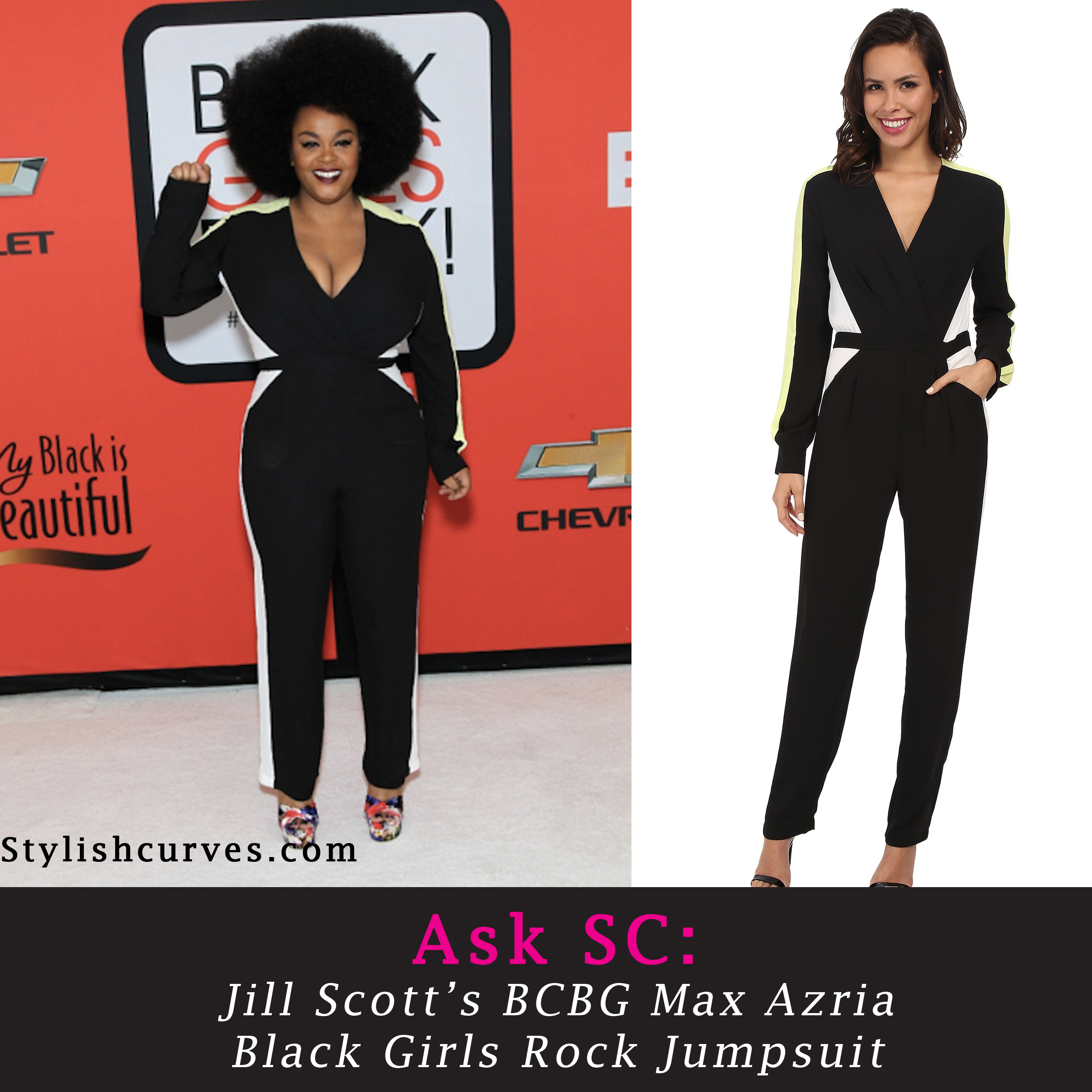 Ask SC: We Found Jill Scott's BCBG Black Girl's Rock Jumpsuit