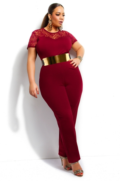 Plus Size Jumpsuits Archives | Stylish Curves