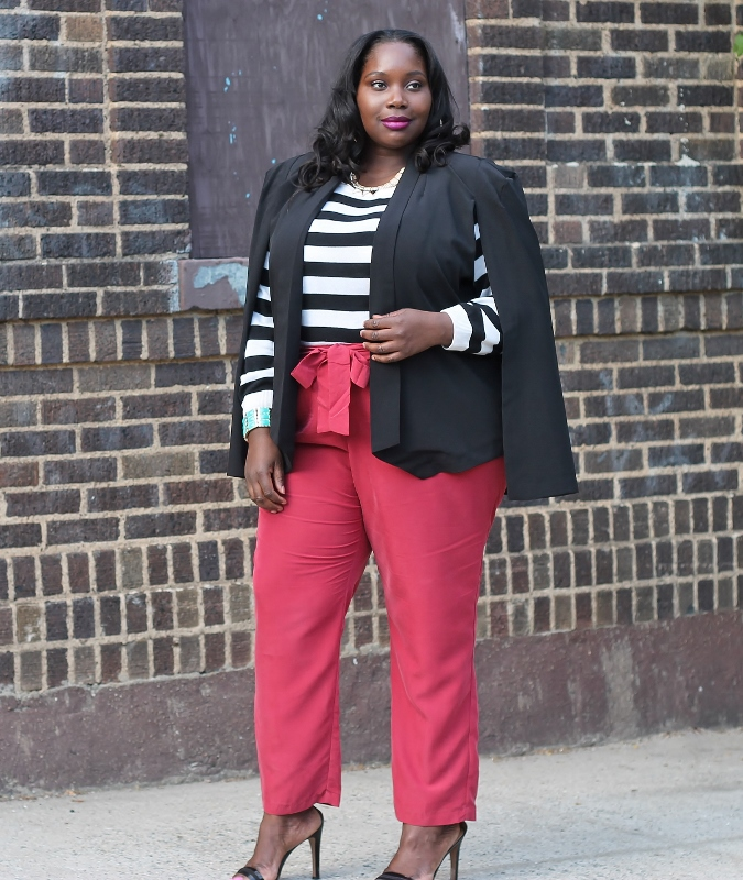515b0c0364b My Perfect Plus Size Spring Pant And Cape Jacket