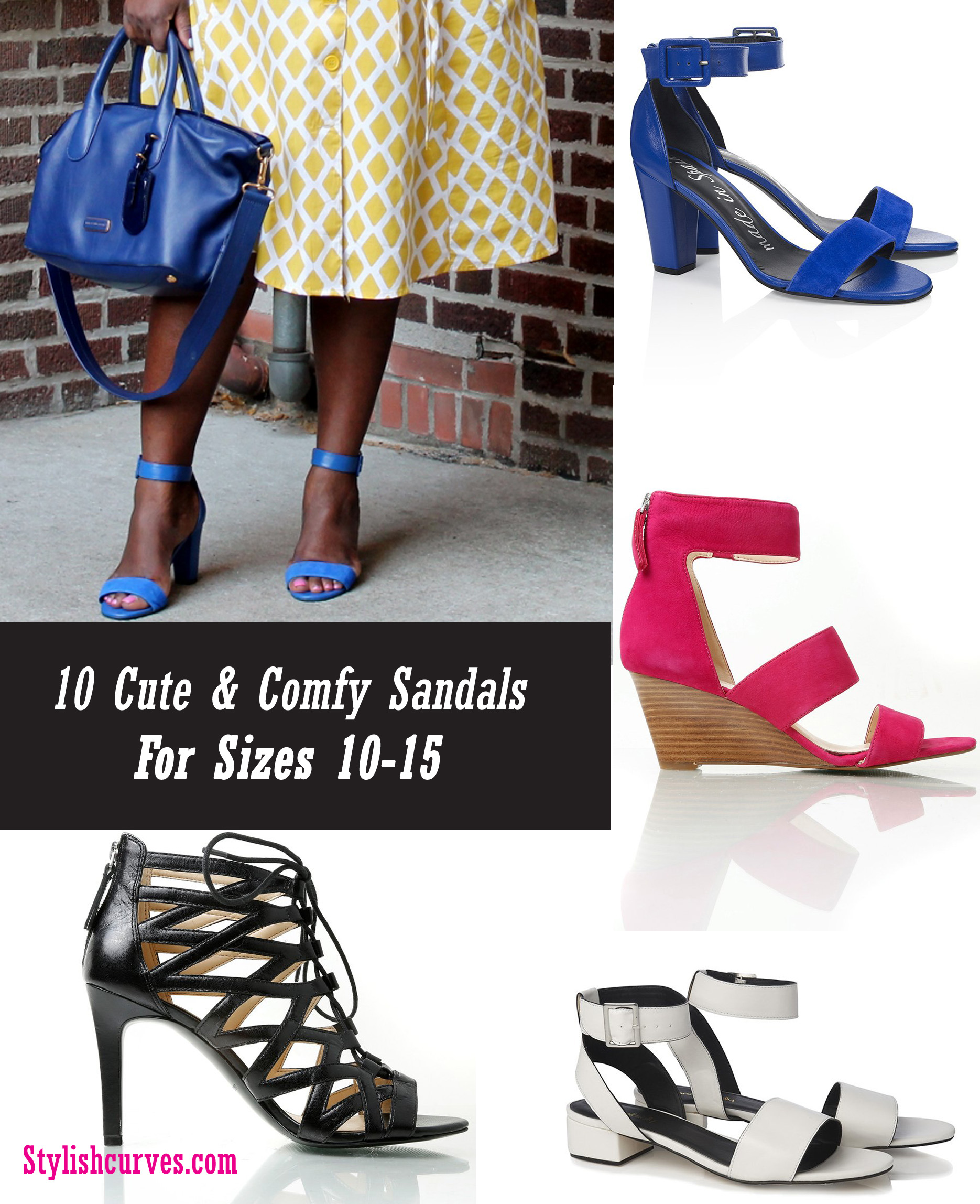 10 Cute And Comfy Sandals For Sizes 10-15