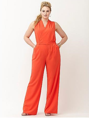 Currently Obsessing Over This Lava Red Plus Size Jumpsuit