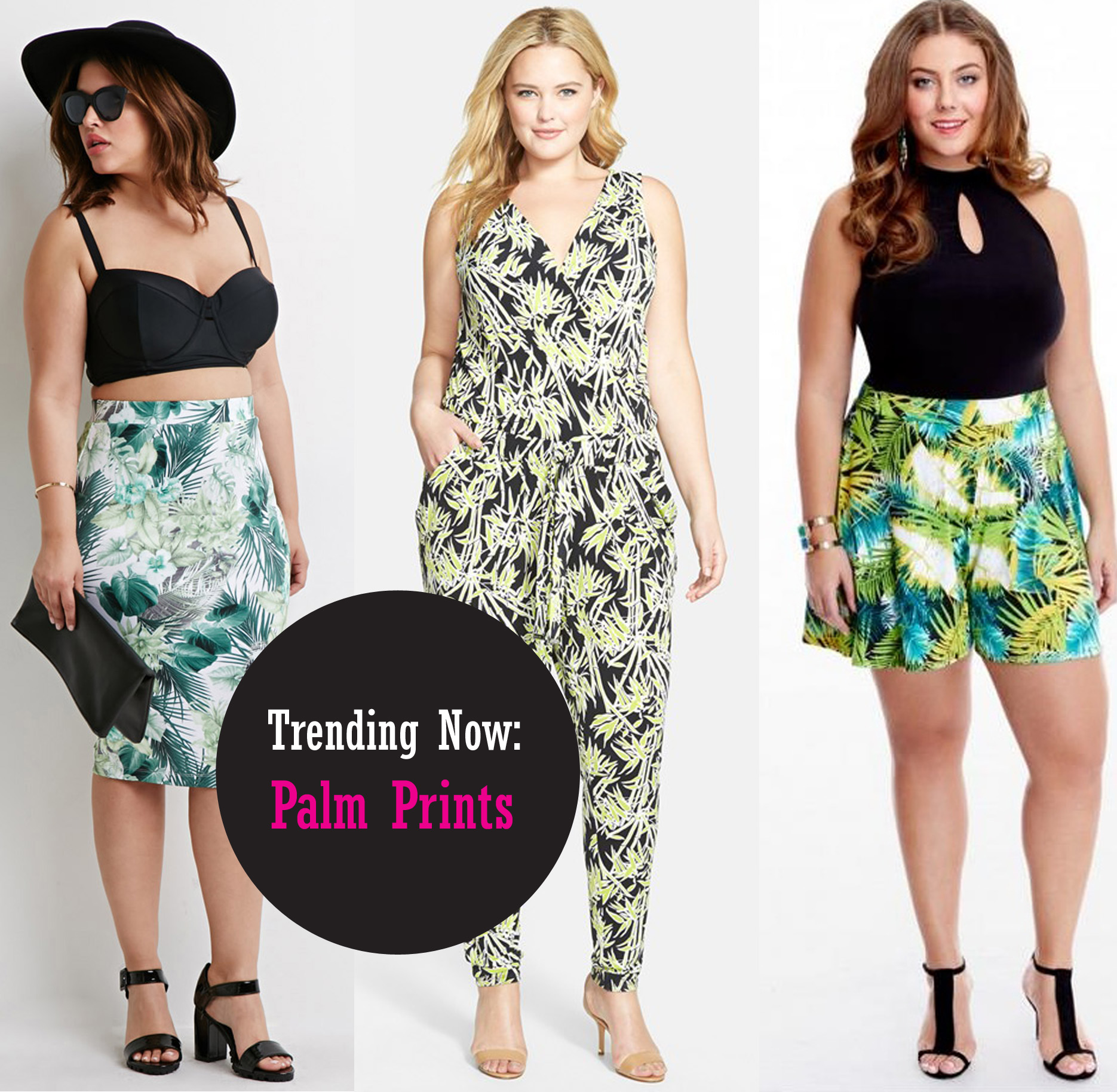 Trend To Try: Palm & Tropical Prints (Plus Size Fashion)