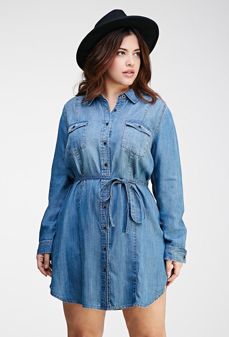 11 Plus Size Denim And Chambray Dresses Under $100 | Stylish Curves