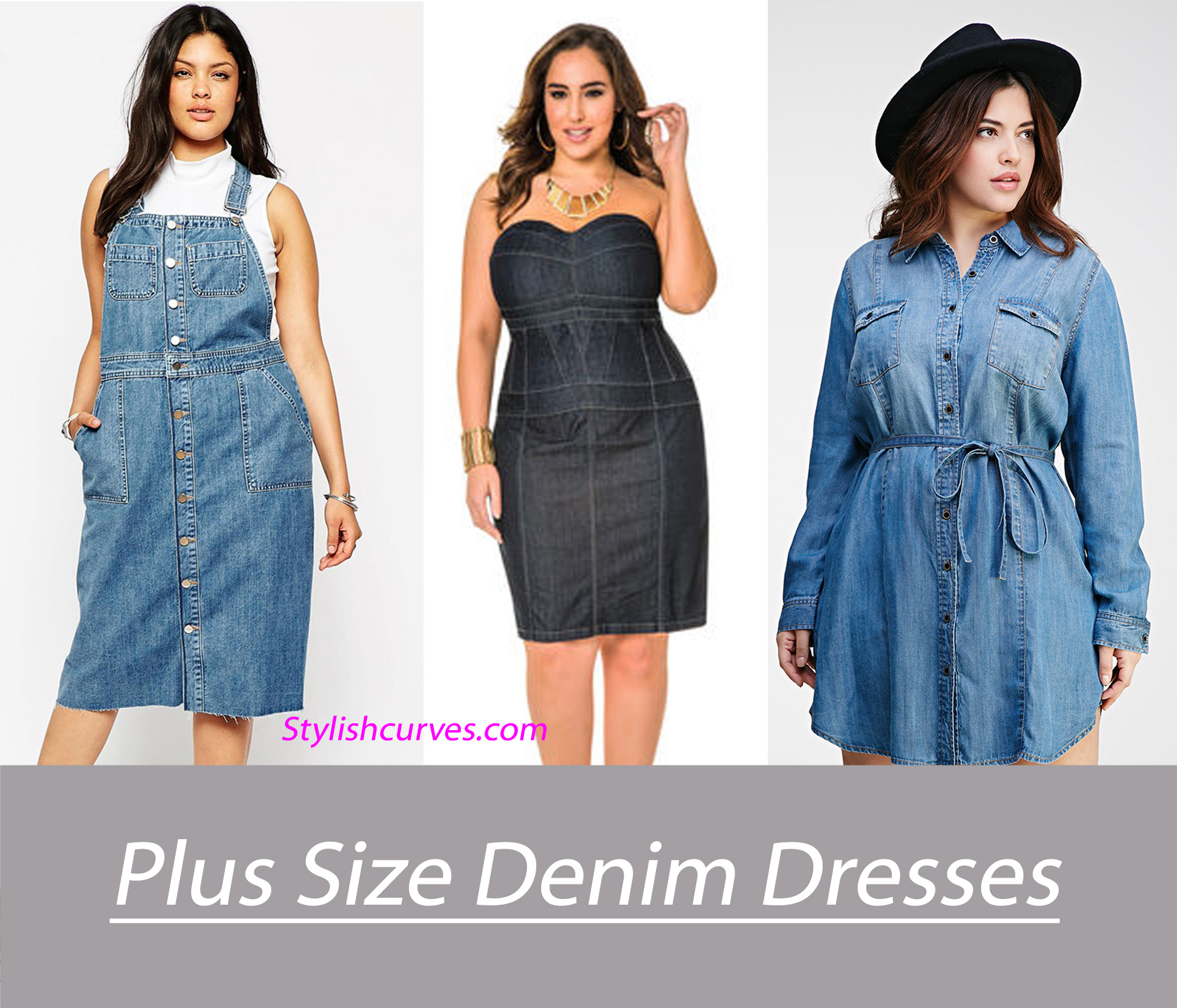 11 Plus Size Denim And Chambray Dresses Under $100 | Stylish Curves