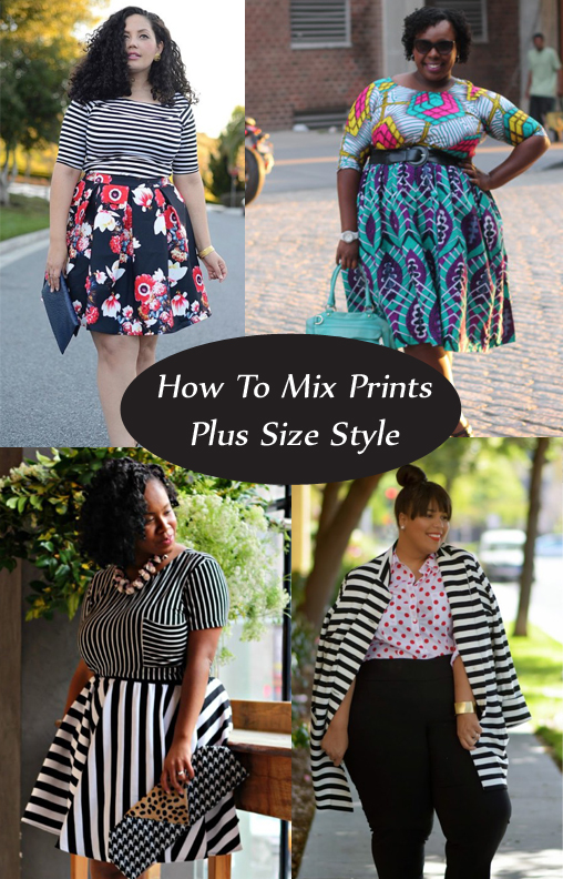 how to mix prints effortlessly plus size style