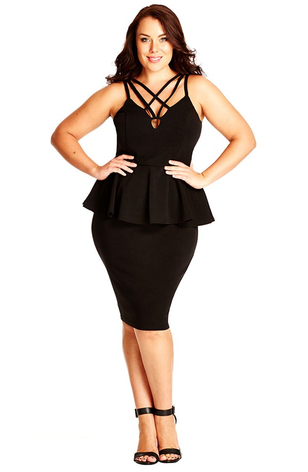 We Love This Very Sexy Strappy Plus Size Dress