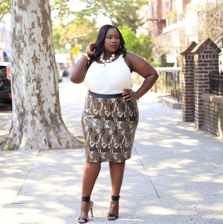 5d2d2ac81a9 Lane Bryant camouflage sequin skirt.2