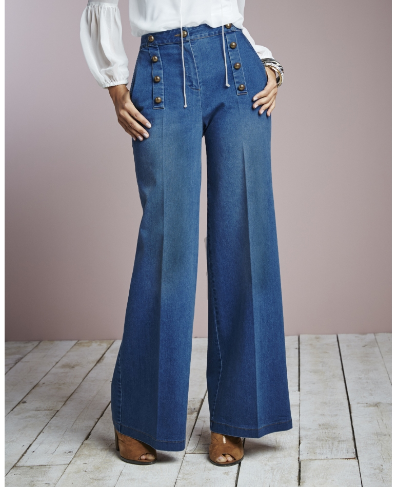 Womens Wide Leg Trouser Jeans