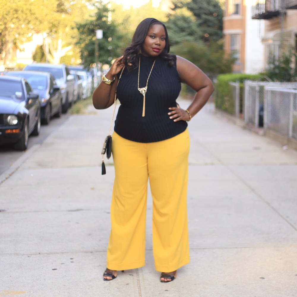 08ae5b4704337a Getting Ready For Fall In A Pair Of Mustard Plus Size Wide Leg Pants ...