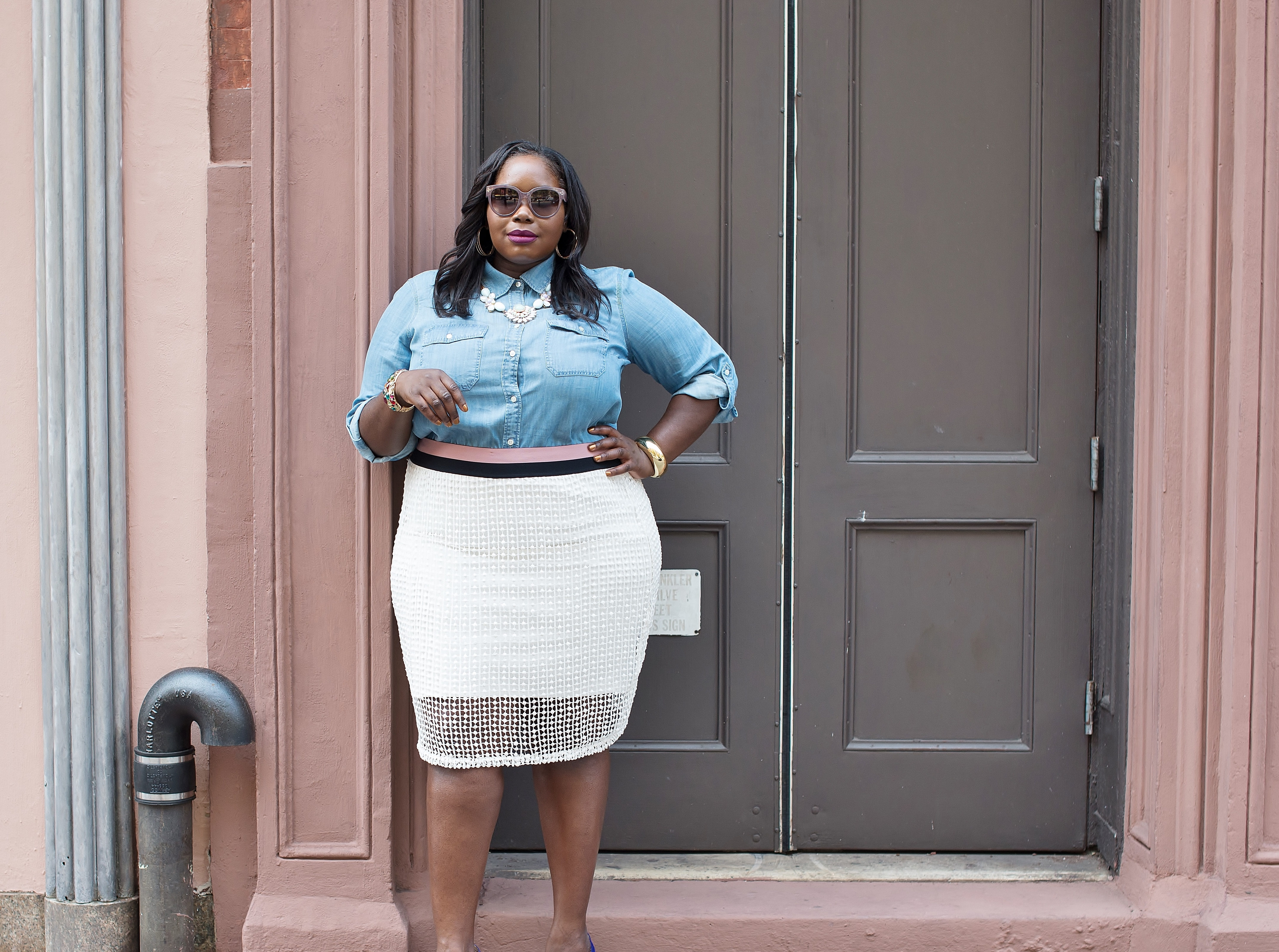 d56e0048a8ba43 Style Journey: Casual Chic In CarmaKoma Crochet Plus Size Skirt ...