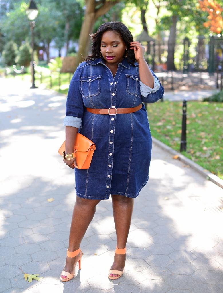 Plus Size Jean Shirt Dresses